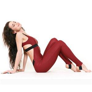 Sexy Ladies Body delle donne senza giunte Slim fitness Salopette corte maniche tuta attivo Wear Fitness pantaloni di stirata