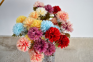 New Spot Multi-Purpose Bouquet Of 8-Color Solid Dandelion Petals 67cm Long And 10cm Long flower Buds Are Brightly Colored And Decorated