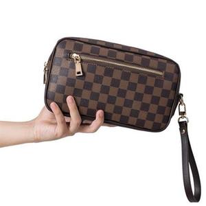 Bolsa Europeia do clássico Checkered Mantas Mulheres e americanos de moda retro mão da manta Saco selvagem Unisex Clutch Casual