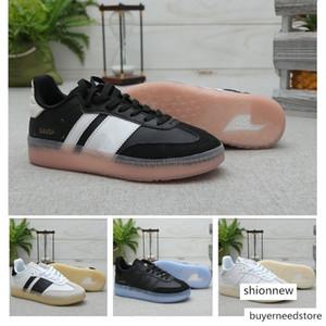 Erkek Samba RM Gazelle kristal alt Klasik Casual ayakkabılar gül Yüksek Kalite Bayan Siyah Beyaz Hafif Öğrenci Tasarımcı Sneakers 36-44
