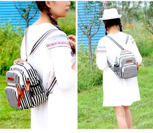 Striped Women Diaper Bag Fashion Waterproof Mom Nappy Bag Travel Backpack For Baby Nursing Multifunction Mother Diaper Handbag
