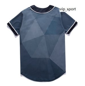 Camisa Jersey línea manera 3D de béisbol de los hombres Deporte buena calidad con el botón de la venta en línea 21 barato