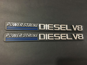 Power Course Diesel V8 3D Sticker Auto Emblème Badge