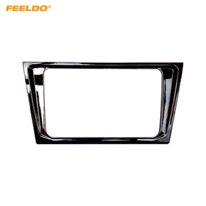 FEELDO Glossy Black Car 2DIN DVD Radio Stereo Fascia Frame For Volkswagen Bora 2016-2018 Dash Panel Frame Refitting Installation Kits #1436