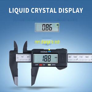 Digital LCD 150 millimetri compasso elettronico digitale Vernier Caliper plastica Vernier pinza con batteria micrometro strumento di misurazione VT1688
