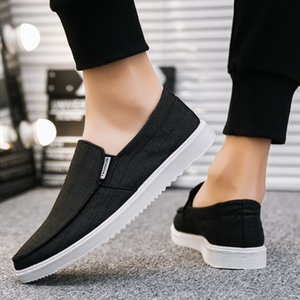 Summer Canvas Casual Shoes Fashion Street Outfits 50% Ulzzang Fall Slip-On Footwear Fall Pea Shoes Men Low Cut Male Autumn Denim Loafers