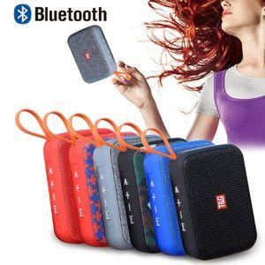 미니 TG506 제품과 함께 휴대용 블루투스 스피커 (6 개) 색상 HIFI 오디오 음악 플레이어 박스 서브 우퍼베이스 스피커 FM 라디오 TF 카드