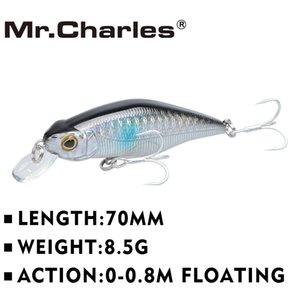 Fishing Lures 70mm 8.5g Shad , 0-0.8m Floating , Quality Professional Minnow Hard Bait 3d Eyes Crankbait