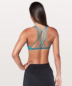 LU-46 libre d'être Serene Sling Zen Bra longue ligne Enlite Yoga Gilet Zip avant Mesh soutien élevé A-E Coupes Workout Gym Backless Lady Sous-vêtements