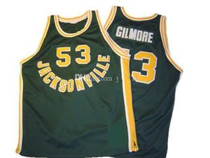 Artis Gilmore # 53 Jacksonville University College Retro Basketball Jersey Men's Coinded Personnalisé Nom Nom Jerseys
