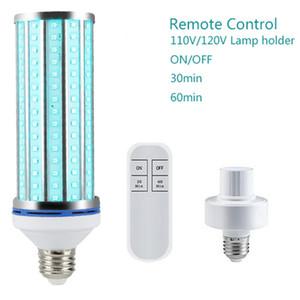 60W UV luz ultravioleta Desinfectante germicida Esterilizador lâmpada de 60 W E27 UVC Desinfecção ampola Ozono gratuito com temporizador de controlo remoto