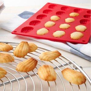 Vente en gros 1 PCS Silicone 20-Cavity Madeleine Shell Cake Mold Cookies Chocolate Baking Mold Livraison gratuite