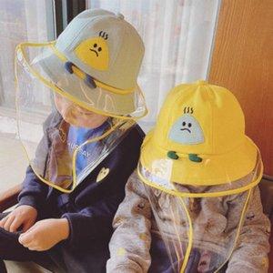 마스크 어린이 보호 캡 스플래쉬 증명 안면 보호 모자 2020 아기 어린이 복장은 2020 아이 어부의 모자