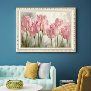 "5D Diamond Painting Tulip paintings by Numbers Frameless DIY Diamond Painting, 13.7""x17. 7"""