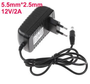 AC 100V-240V a 12V 2A 5,5 millimetri x 2,5 millimetri convertitore della spina parete del caricatore di alimentazione elettrica Adapter UE Stati Uniti Regno Unito spina