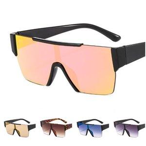 Art und Weise Frauen Randlos Sonnenbrille Siamese Objektiv Sun Glasse Brille Anti-UV-Brille Farbe Film Brillen Adumbral Brillen A ++