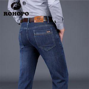 Thick Autumn Black Jeans Men Back Big Pocket Straight Leg Plaid Cotton Fabric Casual Denim Trousers  Male Cargo Jeans