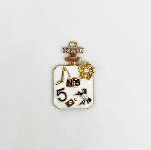 Bouteille de parfum Collier breloques NO5 Diy Bijoux Accessoires Composants semi-finis pour les bijoux en gros Faire Yanwen Livraison