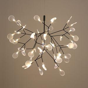 Modern led lâmpada árvore folha pingente de luz lâmpada led lâmpadas de suspensão sala de arte bar restaurante de ferro iluminação de casa al127