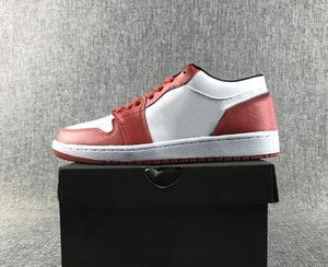 Buy Cheap 1 Varsity Red Black White Man Basketball Designer Shoes Popular I Low Chicago Fashion Trainers Good Quality Come With Box