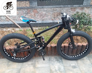 Kalosse Hidrolik frenler 26 * 4,0 lastikler 17 inç M370 Groupset Yağ bisiklet, Kar bisiklet 27 hızlı dağ bisikleti