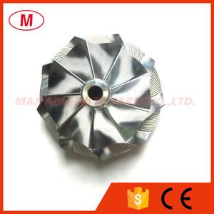 RHF3 35,25 / 47.50mm 9 + 0 lames Turbo compresseur roue billettes / aluminium 2618 / roue de compresseur de fraisage pour Turbocompresseur Cartouche