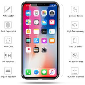 9H clair en verre trempé écran de protection pour iPhone 11 Pro Max XS XR Max X 8 7 6 6S plus SE2 2.5D-5S déflagrant Film de protection