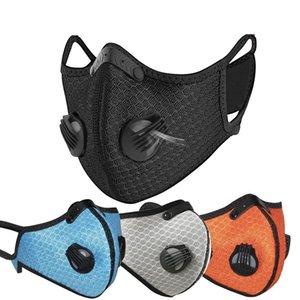 Maschera perfetta Ciclismo viso carbone attivo con filtro PM2.5 Anti-Pollution Sport in esecuzione Protezione formazione di polvere maschera anti-goccioline