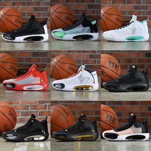 Jumpman 34 XXXIV SE Guo Ailun Bayou Boys Blue Noir Gris étoile Hommes Chaussures de basket-aj 34s Baskets sport Designer Chaussures Taille 40-46