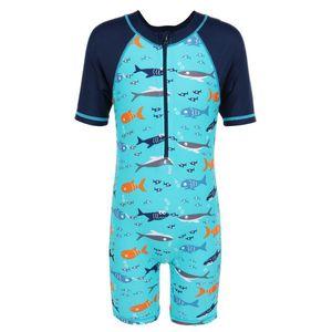 Baohulu Çocuk Mayo UPF50 + Boys Çocuk Swim mayolu Tek Parça Döküntü Guard Yelek Gençler Surf Beach Wear Güneş Suit mayo
