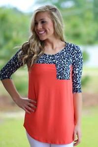 2015 Donna Autunno Inverno camicetta casuale di stampa leopardo shirt a manica lunga Pullover Blusas Femininas