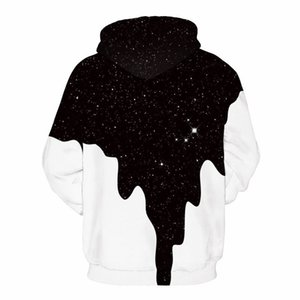 Hot Fashion Men Women Lovers 3d Sweatshirts Print Spilled Milk Space Galaxy Hooded Hoodies Thin Unisex Pullovers Tops MX200613