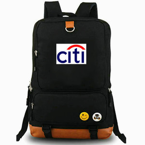 Cidade mochila Citibank daypack Elegante banco logo melhor laptop mochila Mochila de lazer saco de escola Esporte Ao ar livre pacote de dia