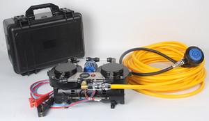 DP70B Plus Equipamento de mergulho 12V Hookah Diving Compressor para mergulho com display, mangueira, regualtor e filtro