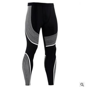 Moda para hombre Gimnasio Compresión Leggings Deporte Entrenamiento Pantalones Hombres Correr Medias Pantalones Hombres Ropa deportiva Ajuste seco Pantalones de jogging con S-3XL