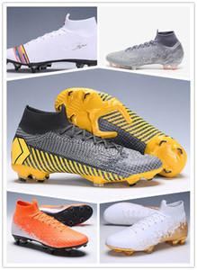 2018 Mensl Superfly VI 360 Elite Ronaldo FG CR футбольные бутсы Chaussures Футбольные бутсы с высокой лодыжкой Футбольные бутсы Размер: 39-45