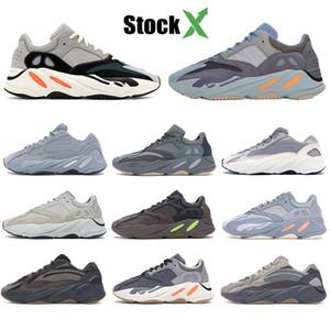 New 700 chaussures hommes inertie kanye motomarine ouest réfléchissant carbone bleu sarcelle concepteur utilitaire femmes aimant statique noir en cours d'exécution baskets