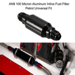 Freeshipping AN8 100 마이크론 알루미늄 인라인 연료 필터 / 휘발유 유니버설 피트