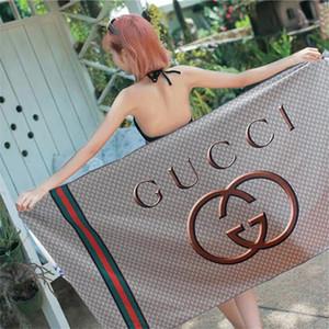 Verão Quick Dry Mulheres Toalha de Praia letra impressa Lady Moda Toalha Atacado Fábrica de microfibra Meninas longa toalha