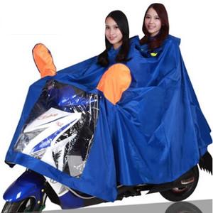 Envío gratuito de gran tamaño motocicleta jinete impermeables moto scooter eléctrico bicicleta impermeables adultos Poncho engrosado