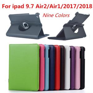 Pour IPad Air 2 cas pour IPad 9.7 Air 1 Case Cover 5 6 5 6 Génération cas 360 degrés de rotation cuir Smart Coque