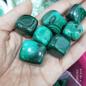 100% Cristal Naturel Pierre Macadam Vert Malachite Pierre Cubique Cristal Clastic Rock Spécimens De Minéraux De Quartz Géologiques