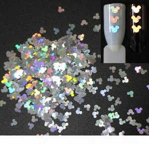 30g~500g ,4mm Mouse Holographic Glitters Laser Slices Paillettes Glitters Sequins For Nail,Body,Tattoo Art,Make Up,Pigment