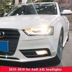 Nouvelle lampe de tête pour voiture Styling Audi A4 Phares haute configuration A4 B9 LED DRL lentille à double faisceau HID KIT Xenon lentille bi xénon