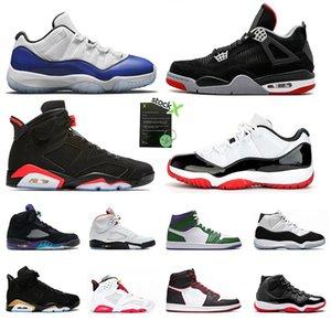 Nike air jordan 11 12s Yeni 4 6s erkek Basketbol ayakkabı Spor salonu kırmızı Bulls Flu oyunu Taksi BORDEAUX Koleji donanma Koyu Gri tasarımcı erkekler Spor Sneakers boyutu 7-13
