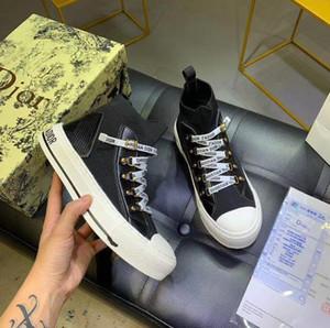 Original DIOR B23 design haut-dessus sergé tissu technique PVC chaussures mode casual toile de haute qualité 2020 nouveaux bas-top sne pour hommes et femmes