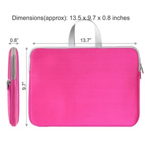 Customized Shockproof Soft Tote Computer Bags Case Inner Bag With Zipper Laptop Sleeve Briefcase Pouch for Macbook