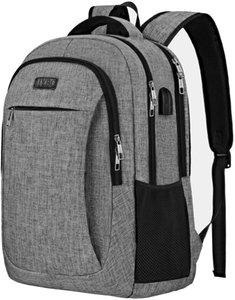 Laptop Backpack Viaggi, IIYBC Anti Theft Laptop Bag con porta USB di ricarica e cuffie interfaccia, zaino affari di Uomini Donne, Università S