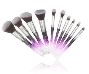 New Product Professional Black White Crystal Eye Beauty Makeup Tools Kit Bag Set Brush Brushes Makeup
