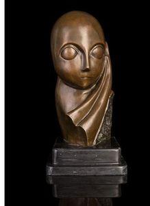 ATLIE BRONZI Nouveau art handmade bronzo astratto statue cast lucidatura Mademoiselle Pogany busto scultura Collezioni sculture